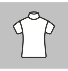 Short sleeve turtleneck icon vector