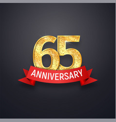 Sixty-five anniversary logo template 65th years vector