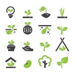 sprout icon set vector image