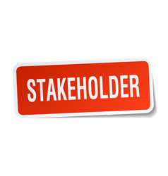 Stakeholder square sticker on white vector