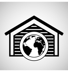 Storage building global world delivery vector