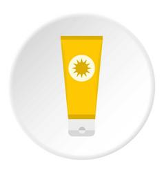 Sunscreen icon circle vector