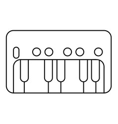 synthesizer piano icon outline style vector image vector image