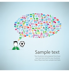 Template design player idea with soccer icon vector image