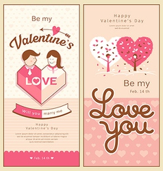 Valentines collections design vector image