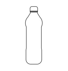 water plastic bottle the black color icon vector image vector image