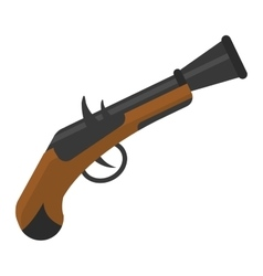Old pistol gun icon vector