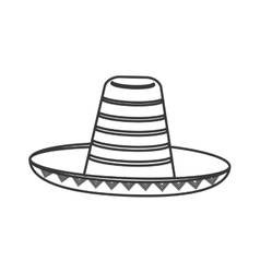 Mexican hat sombrero icon vector