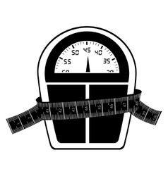Measuring tape and icon image vector