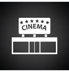 Cinema entrance icon vector