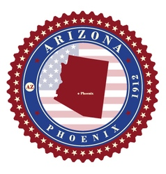 Label sticker cards of state arizona usa vector