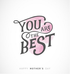 Mothers day greeting card with pink elements vector