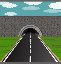tunnel with road vector image