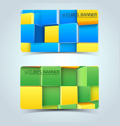 Colorful geometric shapes banners vector