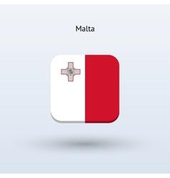 Malta flag icon vector