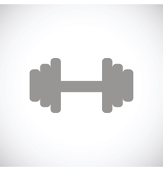 Barbell black icon vector
