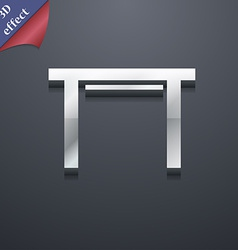 Stool seat icon symbol 3d style trendy modern vector