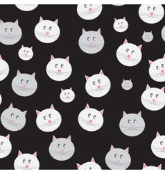 Cat Seamless Pattern Background vector image