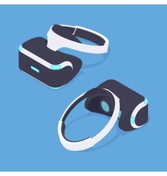Isometric virtual reality headset vector