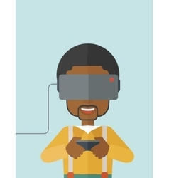 Virtual relaity headset vector