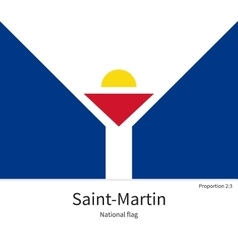 National flag of saint-martin with correct vector