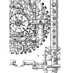 Steampunk hand drawn vector