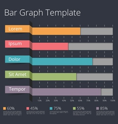 Bar graph vector