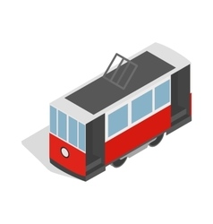 Traditional turkish public tram icon vector