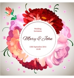 Wedding invitation vintage card with garden vector