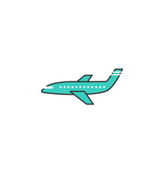 Airplane solid icon navigation and air transport vector