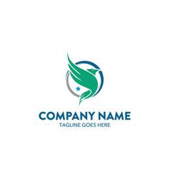 Aviation and marine logo template vector