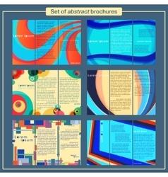 Brochures template set vector
