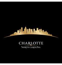 Charlotte North Carolina city skyline silhouette vector image