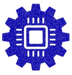 Chip development gear icon grunge watermark vector