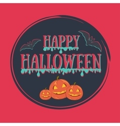 Colorful happy halloween vector