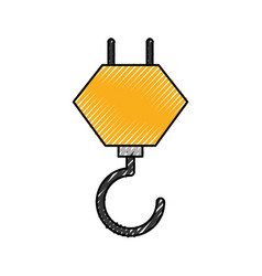 crane hook construction equipment mechanical vector image