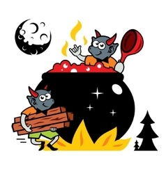 Devils kitchen cartoon vector