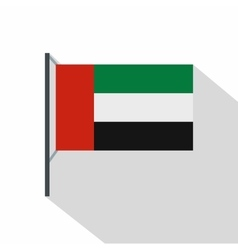 Dubai flag icon flat style vector image vector image