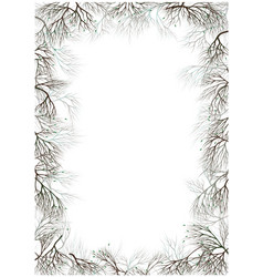 frame for photo text branches nest with a bird vector image vector image