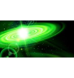 Green galaxy vector