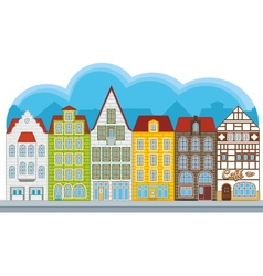 Group of small houses vector