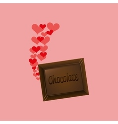 Heart cartoon chocolate bar sweet icon design vector