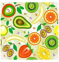 Juicy fruits seamless pattern vector