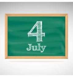 July 4 day calendar school board date vector