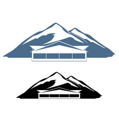 Logo hotel in the mountains vector