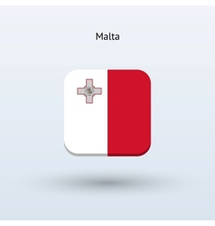 Malta flag icon vector