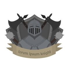 Medieval knight logo color vector