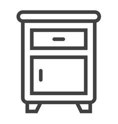 nightstand line icon furniture and interior vector image