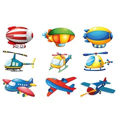 Planes and Balloons vector image