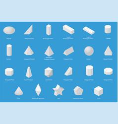 Set of basic geometric shapes vector